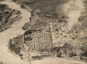 鹿瀬工場俯瞰図
