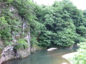 田川内(たこうぢ)橋より