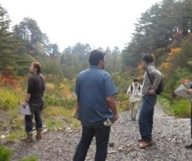 きりん山温泉の方々とは、一緒に草倉銅山跡へも行って勉強会をしましたよ☆