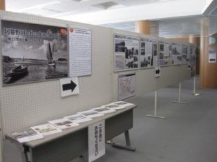阿賀野市立図書館での展示風景☆