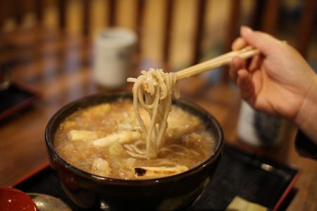 揚げ牡蠣みぞれ蕎麦3@塩屋橘(阿賀町津川)