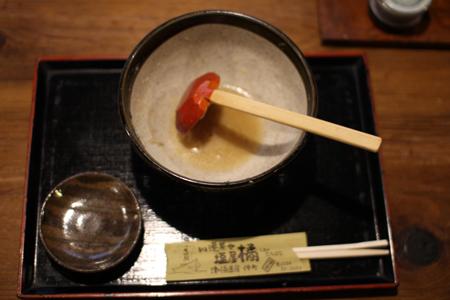 揚げ牡蠣みぞれ蕎麦8@塩屋橘(阿賀町津川)