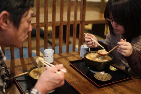 揚げ牡蠣みぞれ蕎麦5@塩屋橘(阿賀町津川)