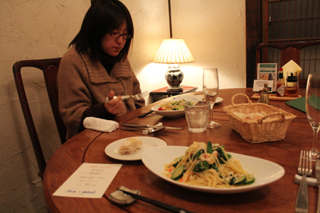 パスタ1:クリスマス・スペシャルディナーコース@ノラ・クチーナ
