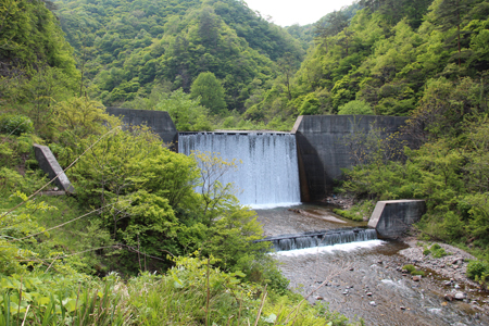 4.持倉銅山踏査(2014年5月)砂防ダム