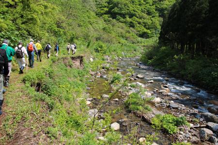 3.持倉銅山踏査(2014年5月)出発