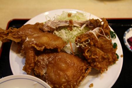 8とりかん(五泉市)小間切れ定食・四つ切:(鶏肉のから揚げ)