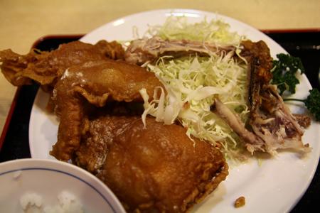 9とりかん(五泉市)小間切れ定食・四つ切:(鶏肉のから揚げ)