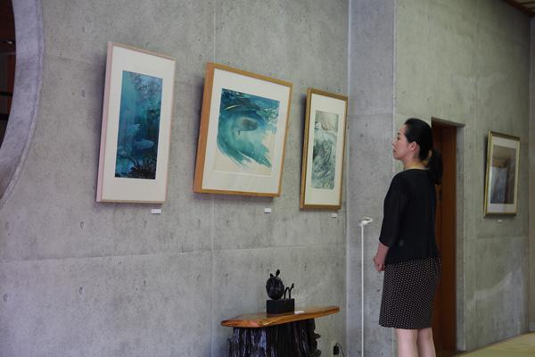 2014.8.10-8.20「阿賀野川のさかなたち展」in咲花温泉2