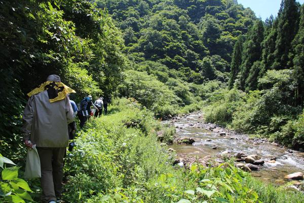 ヤマビル対策:持倉銅山ツアー8
