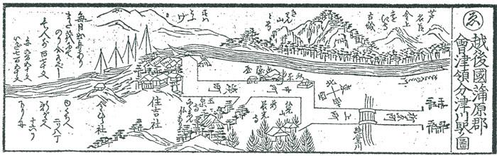 津川駅の図
