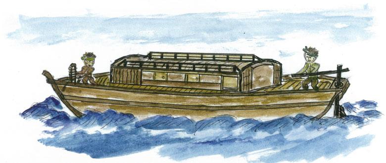 あんこ舟(早船)(挿絵が語る松浜のくらし)