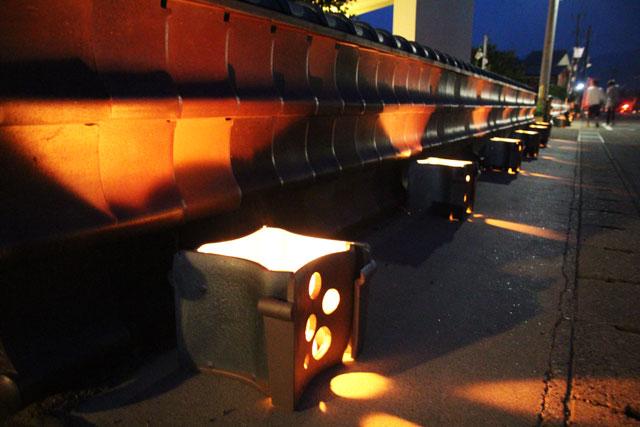 2.安田瓦ロードフェスティバル2015瓦灯篭